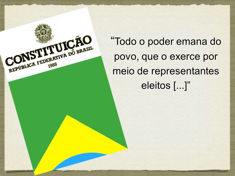 Todo o poder emana do povo, que o exerce por meio de representantes eleitos [...]